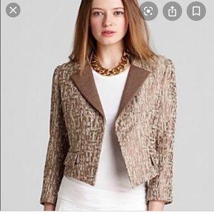 Preowned petite Tahari tweed shimmery jacket